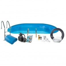 Bassengpakke Nedgravd Oval Swim & Fun Inground 120 cm Dyp 700 x 3 20 cm