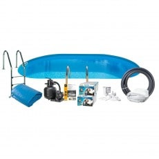 Bassengpakke Nedgravd Oval Swim & Fun Inground 120 cm Dyp 800 x 400 cm