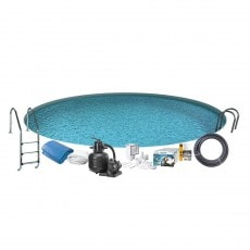 Bassengpakke Nedgravd Rund Swim & Fun Inground 120 cm Dyp 350 cm