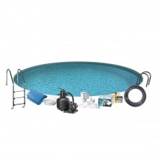 Bassengpakke Nedgravd Rund Swim & Fun Inground 120 cm Dyp 420 cm
